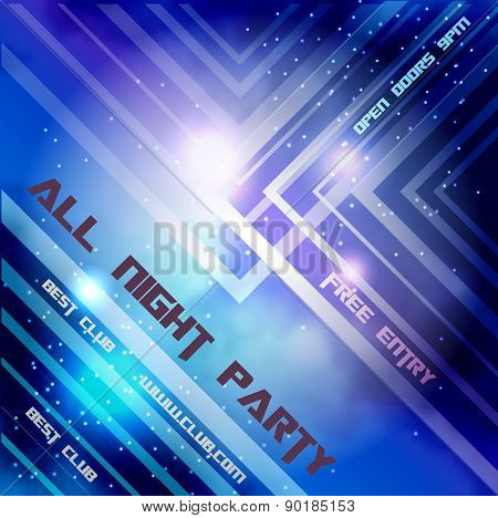 Abstract background with night sky and lights