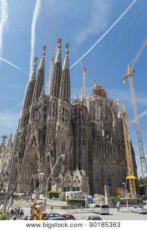 Sagrada Familia Church In Barcelona