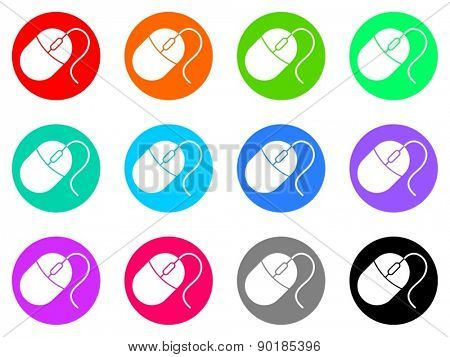 mouse vector web icon set