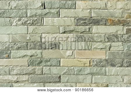 Close Up Of A Brick-wall, Modern Stone Texture As Background