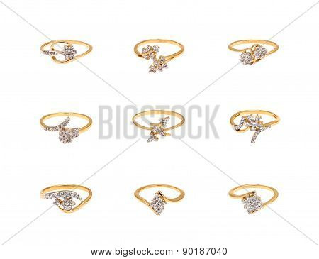 Collage of diamond rings