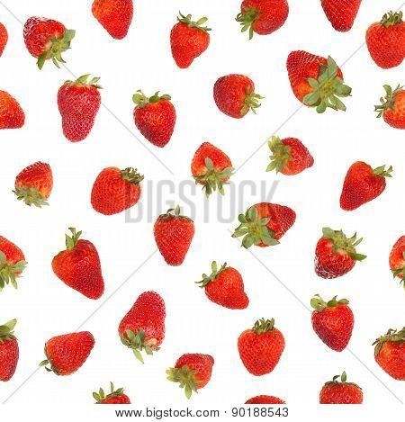 Seamless Strawberry Pattern.