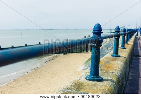Railing By The Seaside