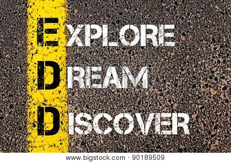 Explore, Dream, Discover  Motivational Quote.
