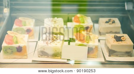 Glass Case With Desserts