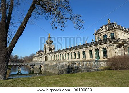 South-eastern Side Of Zwinger Complex In Dresden, Saxony, Germany.