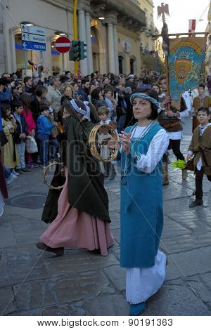 Middle Federicus Festival which takes place in Altamura in Apulia