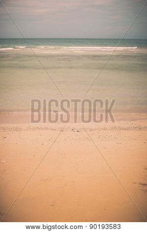 Beach And Blue Sea Vintage