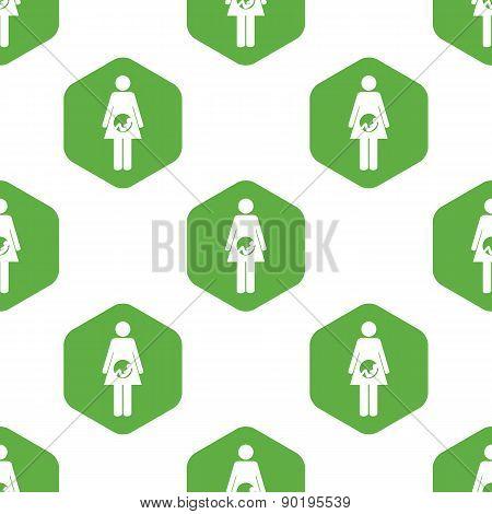 Pregnant woman pattern