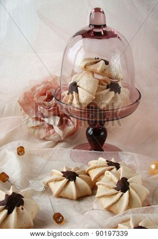 Meringue with chocolate
