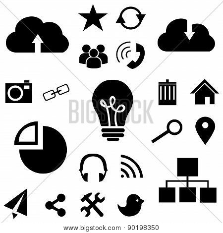 icons applications black