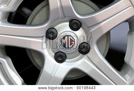 Logo Of Mg On Wheel