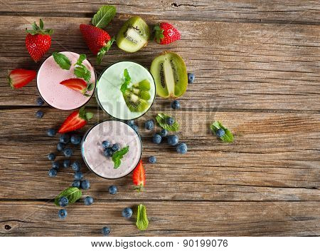 Berry Smoothie, Top View