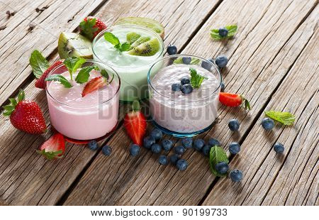 Different  Berry Smoothies