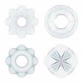 image of rosettes  - Guilloche rosettes - JPG