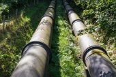 stock photo of hydro  - Two water pipes - JPG