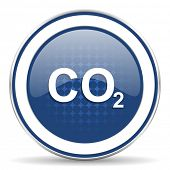 stock photo of carbon-dioxide  - carbon dioxide icon co2 sign  - JPG