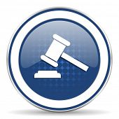 pic of court hammer  - auction icon court sign verdict symbol  - JPG