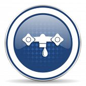 picture of hydraulics  - water icon hydraulics sign  - JPG