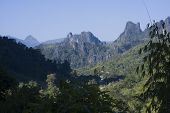 stock photo of ban  - Ban Phatang, mountains and forest, Lao People Democratic Republic