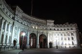 picture of headlight  - Admiralty Arch at night with headlight and tailight light trails - JPG