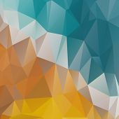 stock photo of polygon  - Polygonal abstract geometry background - JPG