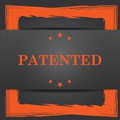 stock photo of plagiarism  - Patented icon - JPG