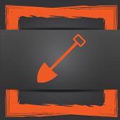 stock photo of shovel  - Shovel icon - JPG