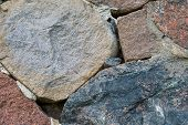 image of fortified wall  - Beautiful close up of old stone wall  - JPG