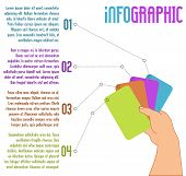 stock photo of four  - vector infographic design - JPG