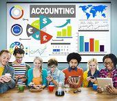 stock photo of revenue  - Accounting Investment Expenditures Revenue Data Report Concept - JPG