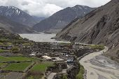 picture of mustang  - Local houses at Kagbeni in lower Mustang district Nepal - JPG