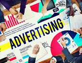 stock photo of promoter  - Advertising Marketing Promotion Strategy Concept - JPG