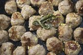 foto of meatball  - little meatballs of pig with aromatic herbs and filling - JPG