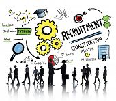 picture of recruiting  - Business People Communication Recruitment Recruiting Concept - JPG