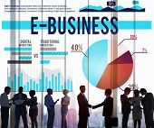 pic of ebusiness  - Ebusiness Marketing Ecommerce Business Concept - JPG
