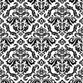 stock photo of damask  - Oriental vector fine texture with damask - JPG