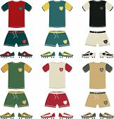 picture of offside  - Football uniform and boots different color - JPG