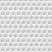 picture of hexagon pattern  - Vector seamless pattern with cubes and hexagons - JPG