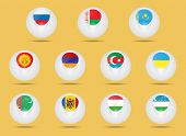picture of state shapes  - Vector icons set - JPG