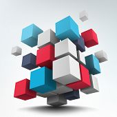 foto of cube  - Abstract vector Illustration - JPG