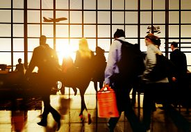 picture of commutator  - Airport Commuter Business Travel Tour Vacation Concept - JPG