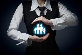 picture of house representatives  - Insurance concept family life and property insurance family services and supporting families concepts - JPG