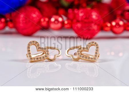 Gifts For New Year - Golden Earrings