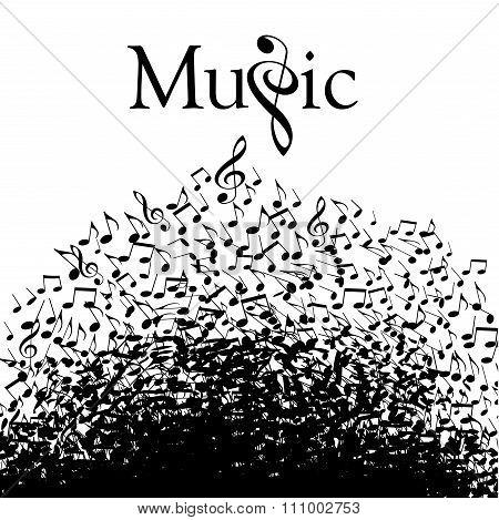 Playful typographic music graphic