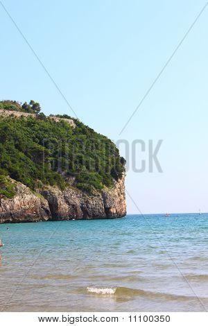 Vertical cliff ot the ocean