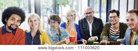 Coffee Break Friends Bonding Group Team Diversity Concept