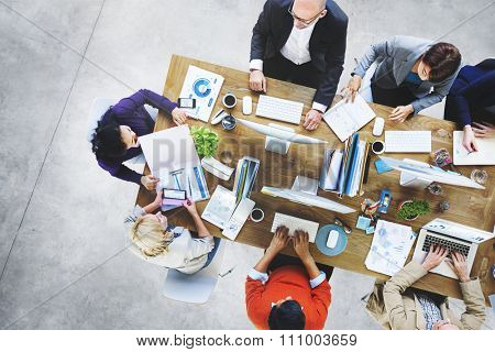 Adhesive Note Cluttered Objects Office Working Station Concept