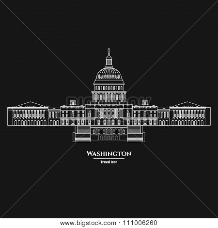 Washington United States Capitol Icon