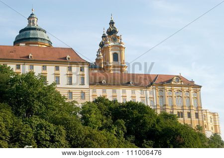 A View Of The Ancient Monastery Of Melk On The Danube In Austria